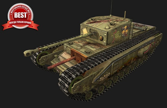 Churchill I #10 для игры World Of Tanks
