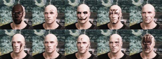 Татуировки и глаза из аниме для TES V: Skyrim