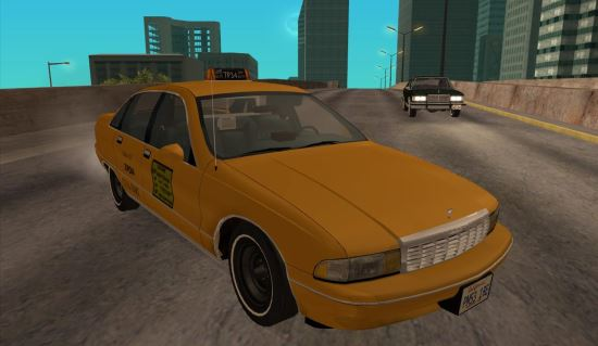 Chevrolet Caprice 1991 Taxi для GTA: San Andreas