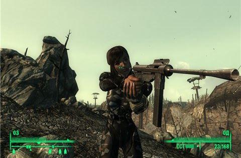 M3A1 Grease Gun - на русском для Fallout 3