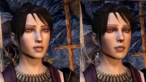 Два вида причесок с разнообразными цветами волос для Dragon Age: Origins