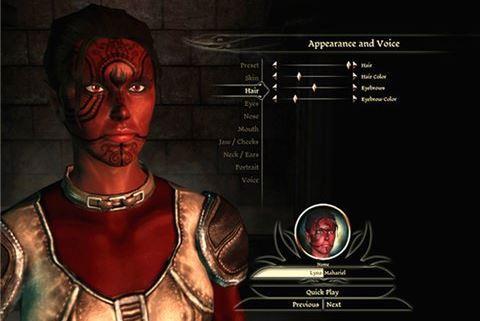 Дополнительные оттенки и тоны кожи для вашего персонажа для Dragon Age: Origins