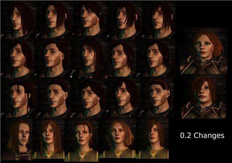 Новые прически для персонажей (обновлено до 0.51) для Dragon Age: Origins