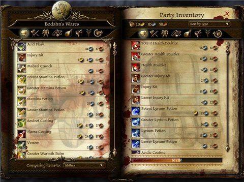 Stamina Potion Recipe Mod / Рецепты Зелья Выносливости для Dragon Age: Origins