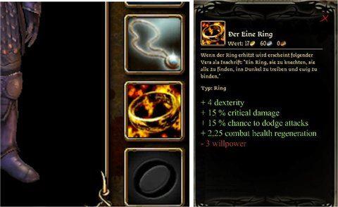 Кольцо из Властелина Колец для Dragon Age: Origins
