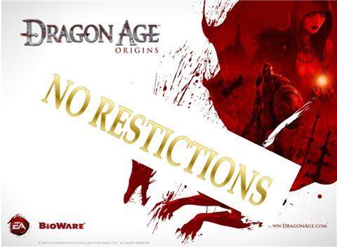 Никаких Ограничений / No Restrictions для Dragon Age: Origins