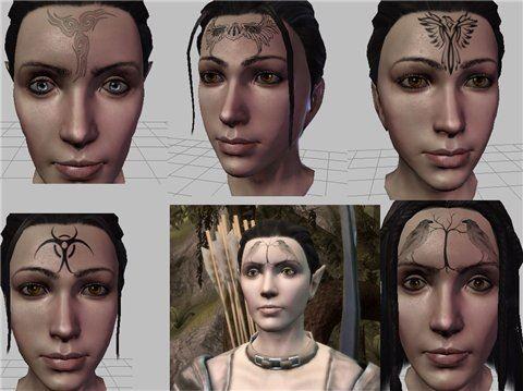 Новые татуировки / Simple Tattoos для Dragon Age: Origins