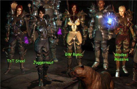 Гравированная и отполированная Броня Стража для Dragon Age: Origins