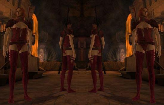 Красная Роба Хасинда / Red Chasind Robe для Dragon Age: Origins