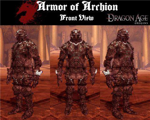 Archion Armor для Dragon Age: Origins