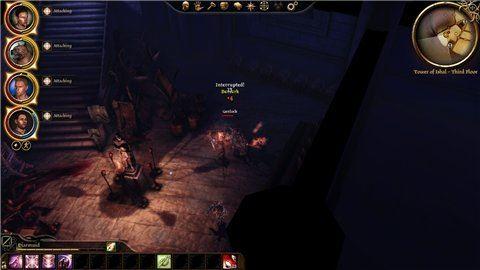 Исчезновение светящегося круга под персонажем для Dragon Age: Origins