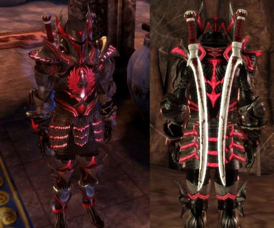Броня и клинки Кровавого Ангела для Dragon Age: Origins