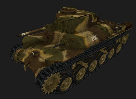 Chi-Ha #1 для игры World Of Tanks