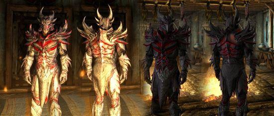 Toxic And White Daedric Armor для TES V: Skyrim