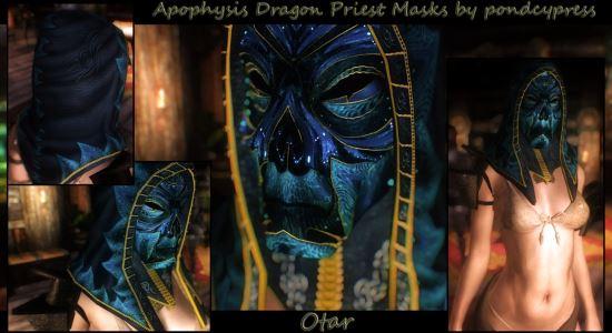 Apophysis dragon priest masks WiP - Реплейсер масок драконьих жрецов v 5.0а для TES V: Skyrim