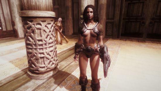 Skyrim сексуальная броня для unp