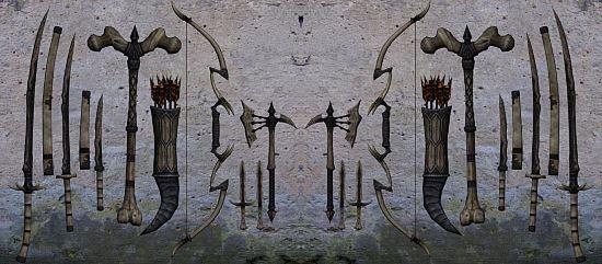 Оружие из драконьей кости / Dragonbone Weapons для TES V: Skyrim
