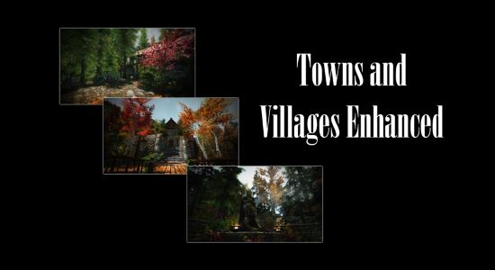 Улучшенные города и Деревни - Towns and Villages Enhanced для TES V: Skyrim