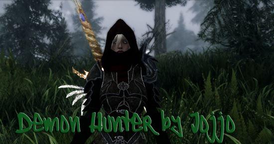 Demon Hunter Armor / Сет Охотницы на демонов в двух версиях для TES V: Skyrim