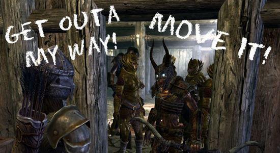 Двигайся, даэдра тебя побери! / Move it Dammit for NPC Companions and Followers v 1.02 для TES V: Skyrim