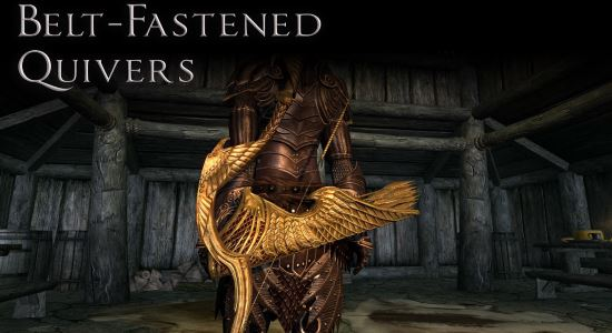 Belt-Fastened Quivers - Колчаны на поясе для TES V: Skyrim