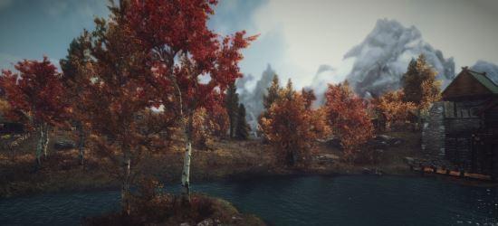 Realistic Aspen Trees 4k 2k 1k / Золотая осень Скайрима для TES V: Skyrim
