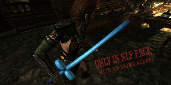 NLF Infinity Blade Weapons для TES V: Skyrim