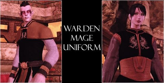 Warden Mage Uniform для Dragon Age: Origins