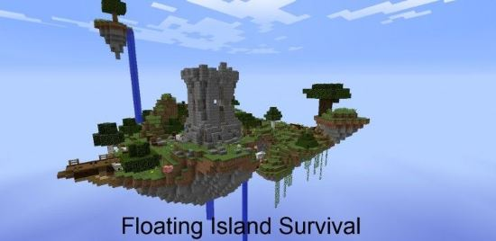 скачать карту летающие острова для майнкрафт 1.7.10 #4