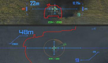 Супер прицелы MeltyMap для World of Tanks (синий / зеленый) 0.9.16
