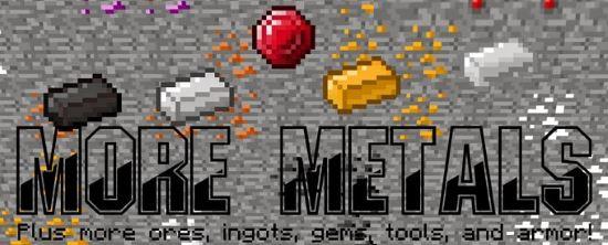 Мод More Metal для Майнкрафт 1.7.10