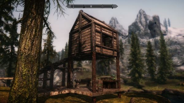 Повсеместное жильё / Live Anywhere - Constructible Shacks v 2.0 для TES V: Skyrim