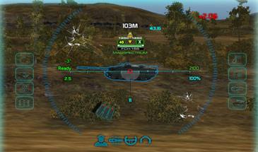 Синий прицел от Kellerman с калькулятором брони для World of Tanks 0.9.16