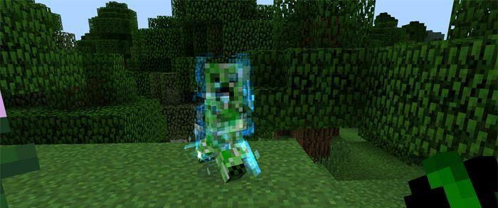 Мод Charged Creeper для Майнкрафт ПЕ 0.12.2/0.12.1