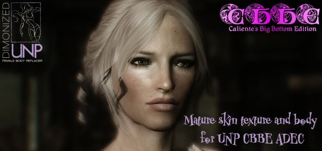 Mature skin texture and body for UNP CBBE ADEC для TES V: Skyrim