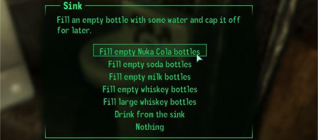 Solars Bottled Water / Набираем воду в бутылки v 2.0 для Fallout 3