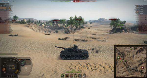 Панель повреждений от Bionick для World of Tanks 0.9.16