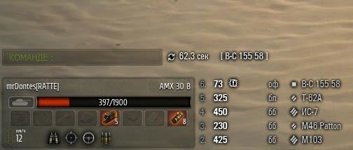 Новая минималистическая панель полученных повреждений для World of Tanks 0.9.16