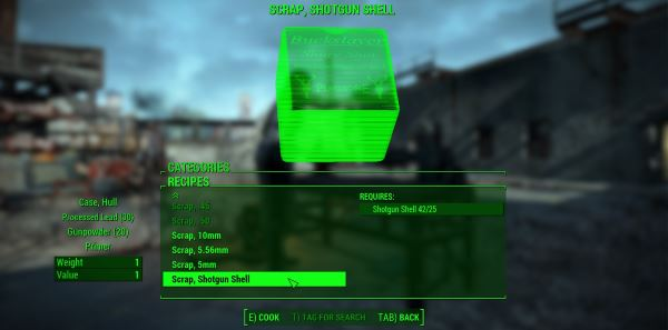 Craftable Ammunition / Создаваемая аммуниция v 1.16 для Fallout 4