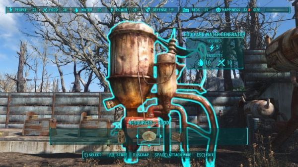 Генератор воды и еды v 1.1 для Fallout 4