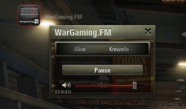 Радио Wargaming FM в ангаре с графическим интерфейсом для World of Tanks 0.9.16