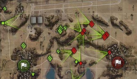 Направление стволов противников на мини-карте для World of Tanks 0.9.16