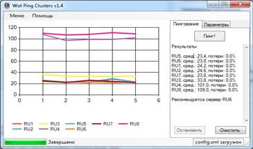 WOT Pinger - пинг серверов World of Tanks 0.9.16