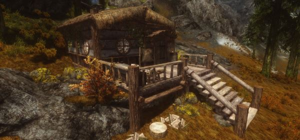 Round Window Cabin - Player Home v 1.4 для TES V: Skyrim