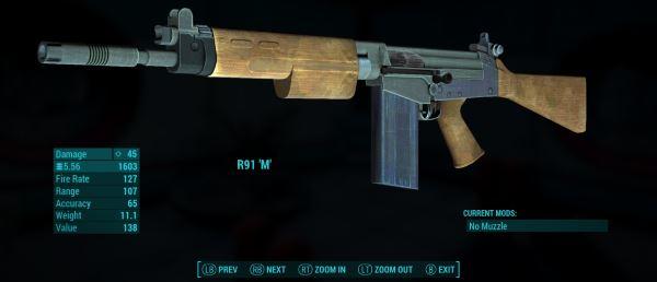 R91 Standalone Assault Rifle / Штурмовой карабин R91 для Fallout 4