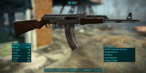 The AK-2047 Standalone Assault Rifle / Штурмовой карабин AK-2047 для Fallout 4