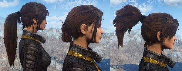 Ponytail Hairstyles by Azar / Хвосты от Азара v 1.6 для Fallout 4
