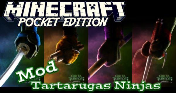 Черепашки нидзя мод для Minecraft PE 0.13.0/0.13.1