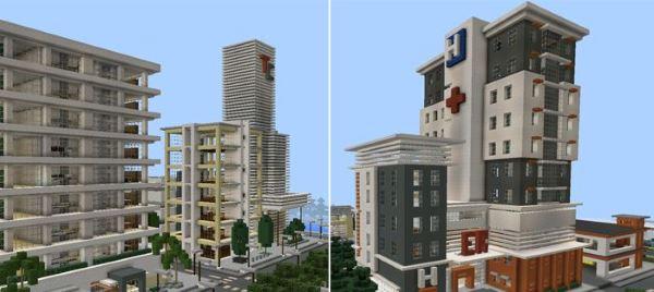 Карта Город-Призрак для Minecraft PE 0.13.1/0.13.0