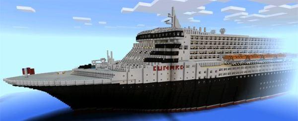 Карта Queen Mary 2 для Minecraft PE 0.13.1/0.13.0